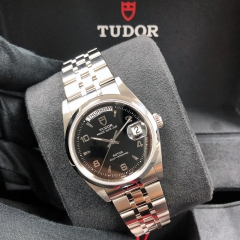Tudor Prince Date Day 36mm Stainless Steel Black Dial Automatic M76200-0006