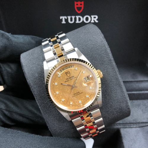 Tudor Prince Date Day 36mm Steel-Yellow Champagne Dial Automatic M76213-0007