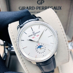 GIRARD PERREGAU 1966 Stainless Steel 40mm White Dial Automatic 49535D11A131-BB60