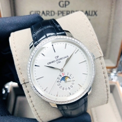 GIRARD PERREGAU 1966 Stainless Steel 40mm White Dial Automatic 49545D11A131BB60