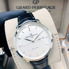 GIRARD PERREGAU 1966 Stainless Steel 40mm Silver Dial Automatic 49555-11-131-BB60