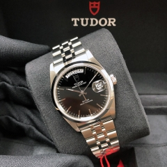 Tudor Prince Date Day 36mm Stainless Steel Black Dial Automatic M76200-0023