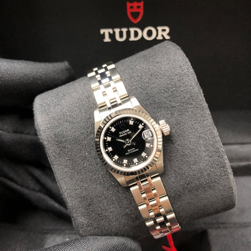 Tudor Princess Date 22mm Steel-White Gold Black Dial Automatic M92514-0006