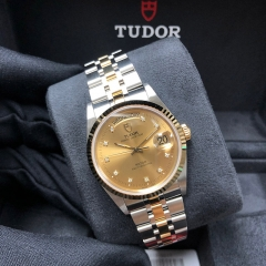Tudor Prince Date Day 36mm Steel-Yellow Gold Champagne Dial Automatic M76213-0011