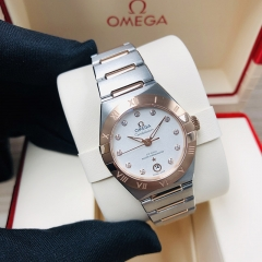 OMEGA Constellation Steel-Rose Gold 29MM Silver Dial Automatic 131.20.29.20.52.001