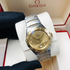OMEGA Constellation Steel-Yellow Gold 29MM Champagne Dial Automatic 131.20.29.20.58.001