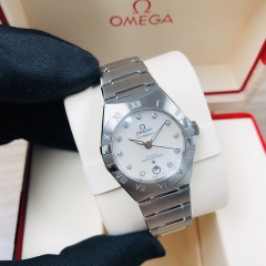 OMEGA Constellation Stainless Steel  29MM White Mother of Pearl Dial Automatic 131.10.29.20.55.001
