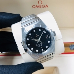 OMEGA Constellation Stainless Steel  38MM Black Dial Automatic 123.10.38.21.51.001