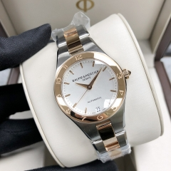 Baume & Mercier Linea 32mm Steel-Rose Gold White Dial Automatic  MOA10073