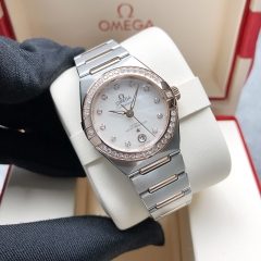OMEGA Constellation Steel-Rose Gold 29MM White Dial Automatic 131.25.29.20.55.001