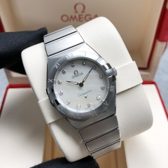 OMEGA Constellation Stainless Steel  28MM White Dial Quarz 131.10.28.60.55.001