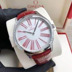 OMEGA De Ville Stainless Steel 36MM White Dial Quartz 428.18.36.60.04.002