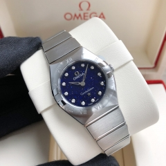 OMEGA Constellation Stainless Steel 25mm Blue Dial Quartz 131.10.25.60.53.001